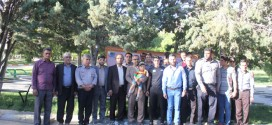 استقبال از آتش نشان احمد غفاری توسط پرسنل سازمان به همراه شورای سازمان