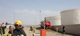 مانور مشترک سازمان آتش نشانی ملایر با شرکت ملی پخش فراورده های نفتی ناحیه ملایر مستقر در تپه نوشیجان در مهر ۹۷ تحت عنوان واکنش در شرایط اظطراری