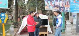 تداوم تلاش کارشناسان سازمان آتش نشانی ملایر جهت آموزش همگانی به شهروندان بمناسبت ایمنی شب چهارشنبه سوری