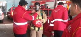 آموزش و تمرین با تجهیزات آتش نشانی